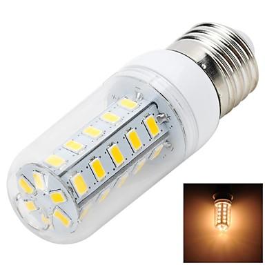 E26/E27 Becuri LED Corn T 36 LED-uri SMD 5730 Alb Cald 500-600lm 3000-3500K AC 220-240V