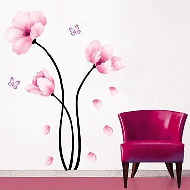 Dekorative Mur Klistermærker - Fly vægklistermærker Blomster / Botanisk Stue / Soverom / Baderom / Kan Omposisjoneres