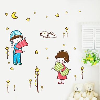 Pared calcoman as pegatinas de pared de dibujos animados for Calcomanias pared