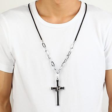 Anhängerketten - Aleación Kreuz Modische Halsketten Für Party Alltag Normal