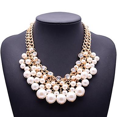 femei eternitate de moda perle colier pietre