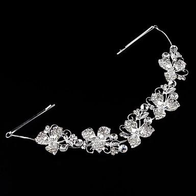 Krystall Künstliche Perle Strass Stoff Aleación Tiaras Stirnbänder 1 Hochzeit Party / Abend Kopfschmuck