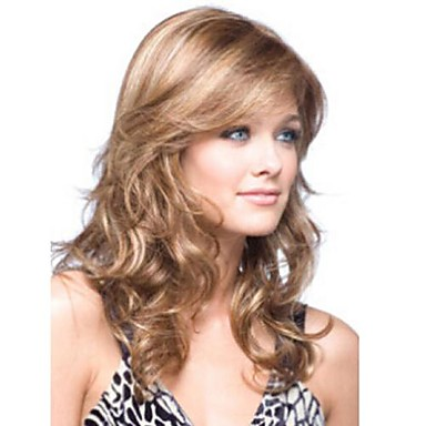 Synthetic Wig With Bangs Blonde Women's Black Wig