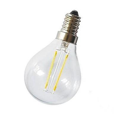 E14 Bec Filet LED G45 2 COB 220 lm Alb Cald Decorativ AC 220-240 V