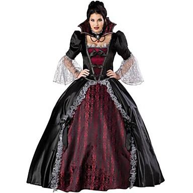 2d91fc362f01 Vampyr Cosplay Kostumer Festkostume Voksne Dame Jul Halloween Festival    Højtider Blonde Satin Sort   Rød