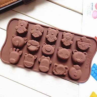 Животный принт Пироги Cupcake Торты Силикон Экологичные Своими руками Антипригарное покрытие выпечке Mold