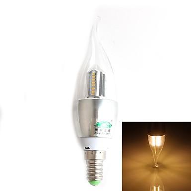 e14 светодиодные свечи ca35 32 smd 3014 280lm теплый белый 3000-3500k декоративный ac 220-240v