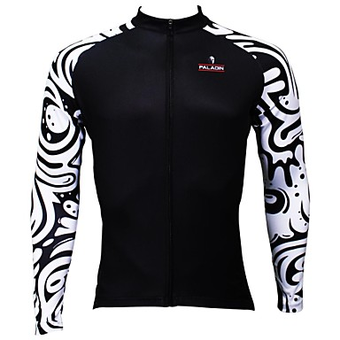ILPALADINO Cycling Jersey Men's Long Sleeves Bike Jersey Top Bike Wear Quick Dry Ultraviolet Resistant Breathable Patchwork Leisure