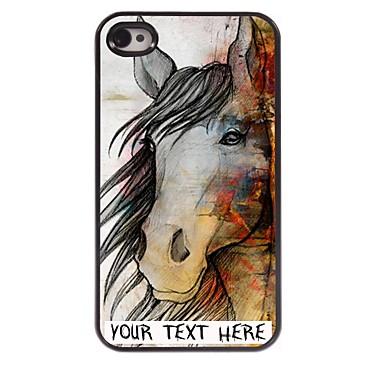 caz telefon personalizate - carcasa de metal de proiectare cal pentru iPhone 4 / 4s