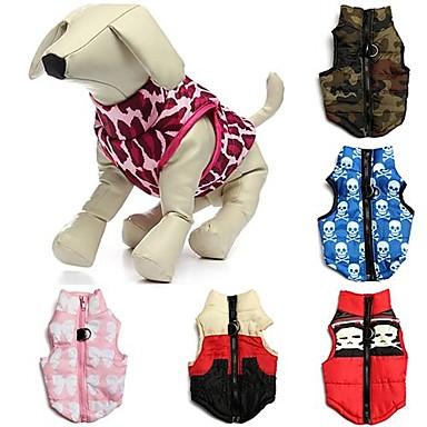Kat Hond Jassen Gilet Hondenkleding camouflage Strik Rood Groen Blauw Roze Rood/Wit Katoen Kostuum Voor huisdieren Heren Dames