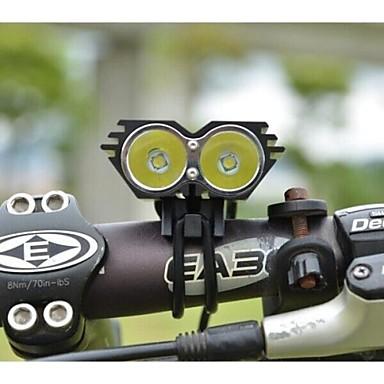 LS070 Kafa Lambaları Bisiklet Işıkları Far 5000/2500 lm Kip Cree XM-L U2 Şarj Aleti ile Darbeye Dayanıklı Şarj Edilebilir Su Geçirmez