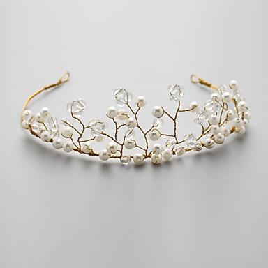 Krystall Imitert Perle Legering Tiaras blomster 1 Bryllup Spesiell Leilighet Hodeplagg