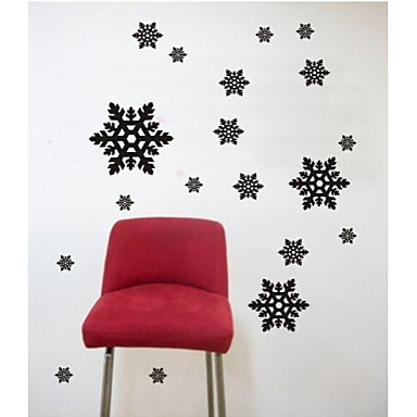 Wall Stickers Wall Decals, Contemporary Snowflake PVC Wall Stickers