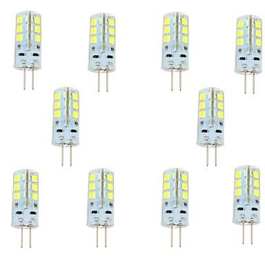 1.5W 150-200lm G4 LED Bi-pin Işıklar 24 LED Boncuklar SMD 2835 Serin Beyaz 12V / 10 parça / RoHs