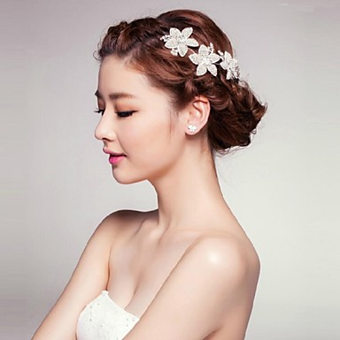 Women's Rhinestone Alloy Acrylic Headpiece-Wedding Special Occasion Outdoor Flowers
