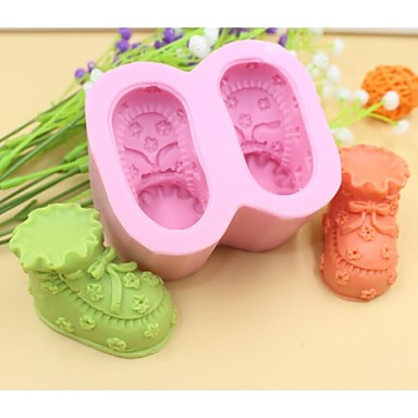 baby sko formet  kake sjokolade silikon Form kake dekorasjon verktøy, l8.5cm * b7.2cm * h4.5cm