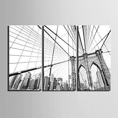 Architecture Three Panels Vertical Print Wall Decor Home Decoration