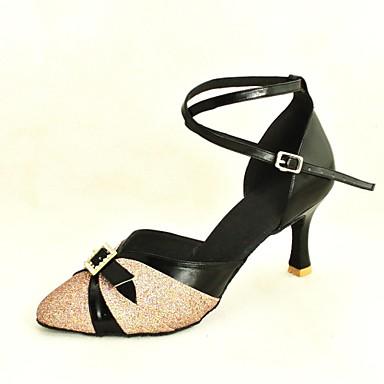 Damen Schuhe für modern Dance / Standard-Schuhe Glitzer / Paillette Stöckelschuhe Schnalle Maßgefertigter Absatz Maßfertigung Tanzschuhe
