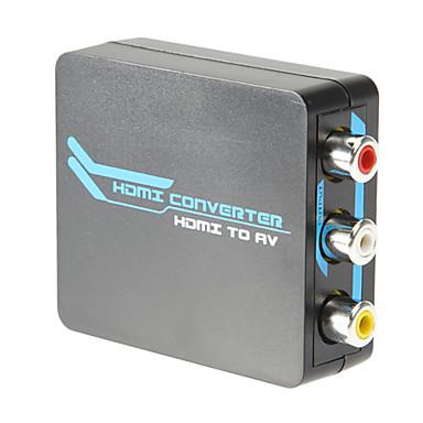 Mikro HDMI tv / pc / ps3 / blu dvd1080p için kompozit av dönüştürücü 3RCA için