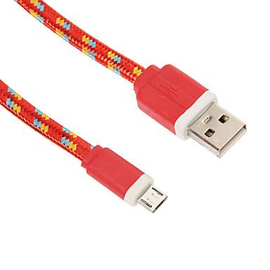 Micro USB 2.0 / USB 2.0 USB kábeladapter Fonott Kábel Kompatibilitás 90cm Műanyag