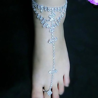 Metal Barefoot Sandals Women's Wedding Vacation Silver