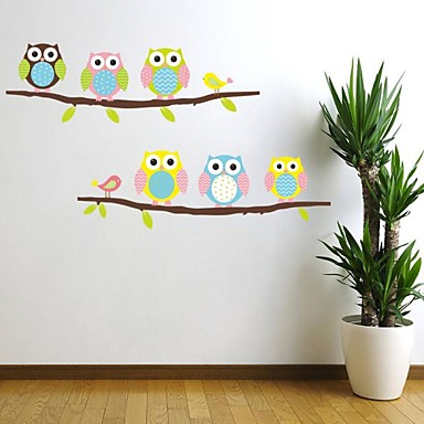 Dekorative Mur Klistermærker - Animal Wall Stickers Landskap / Dyr Stue / Soverom / Drengeværelse