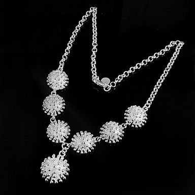 billige Mote Halskjede-Vintage Fest Kontor Fritid Sølv Sølv Halskjeder Smykker 1pc Til