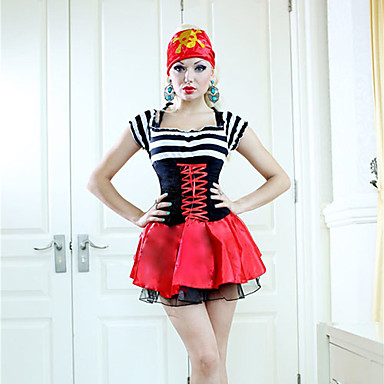 Pirate Cosplay Costume Party Costume Women's Halloween Carnival Festival / Holiday Halloween Costumes Patchwork