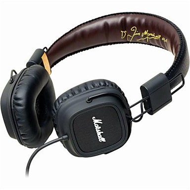 MARSHALL MAJOR On Ear / Headband Wired Headphones Dynamic Plastic Mobile Phone Earphone with Volume Control / with Microphone /