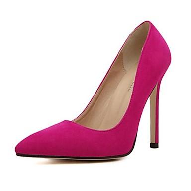 Черный / Зеленый / Розовый / Красный - Женская обувь - Для праздника - Замша - На шпильке - На каблуках / С острым носком -Обувь на