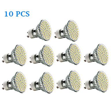 3 W 300-350 lm GU10 LED szpotlámpák 60 led SMD 3528 Meleg fehér Hideg fehér AC 220-240V