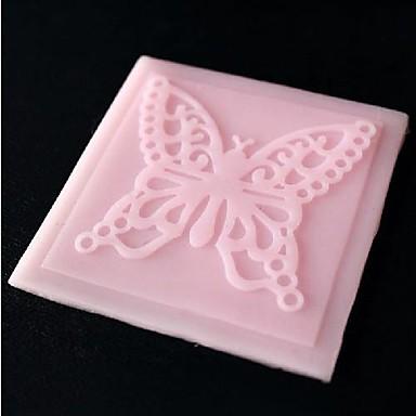 бабочка кружева тиснение умирает помадной торт Шоколадный силиконовые формы площадку, кекс украшения инструменты, l6.8cm * w6.8cm * h0.3cm