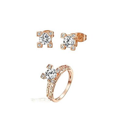 Jewelry-Earrings / Rings(Crystal / Cubic Zirconia)Wedding / Party / Casual Wedding Gifts