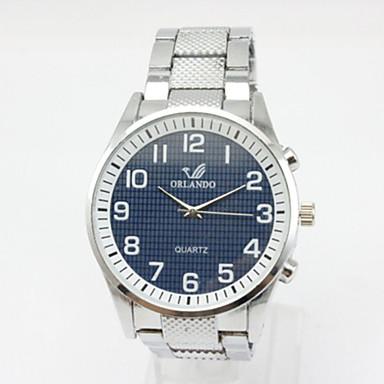 Муж. Кварцевый Наручные часы Мода Нержавеющая сталь Группа На каждый день Черный