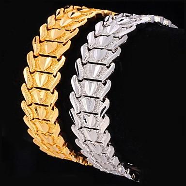 Dames Chunky Armbanden met ketting en sluiting - Platina Verguld, Verguld Hart, Liefde Gepersonaliseerde, Luxe, Klassiek Armbanden Zilver / Gouden Voor Kerstcadeaus / Bruiloft / Feest