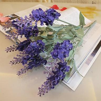 Филиал Шелк Пластик Светло-голубой Букеты на стол Искусственные Цветы