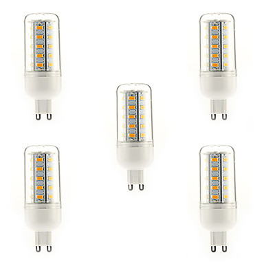5pcs 4W 350-400 lm G9 LED Corn Lights T 36 leds SMD 5730 Warm White AC 220-240V