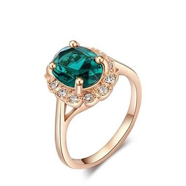 Dames Statement Ring Goud Rose Ruusukulta Modieus Dagelijks Kostuum juwelen