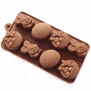 kakeform såpe mold kanin easter egg mold silikon mold for godteri sjokolade