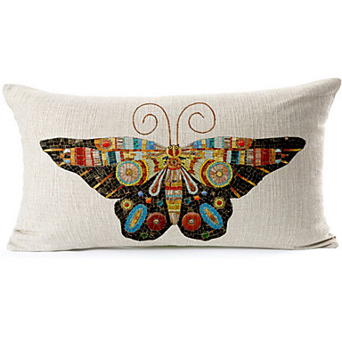1 pcs Cotton/Linen Pillow Cover, Novelty Country