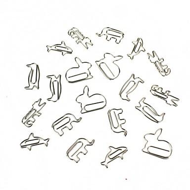 kreatív kis állatok papír klip alakja 16 db véletlen stílus