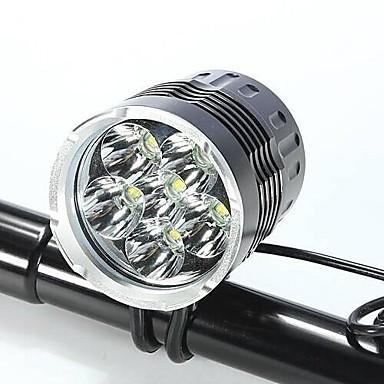 Fejlámpák Kerékpár világítás LED Cree XM-L T6 Kerékpározás Vízálló Újratölthető Ütésálló Könnyű 18650 Lumen Akkumulátor AC töltő