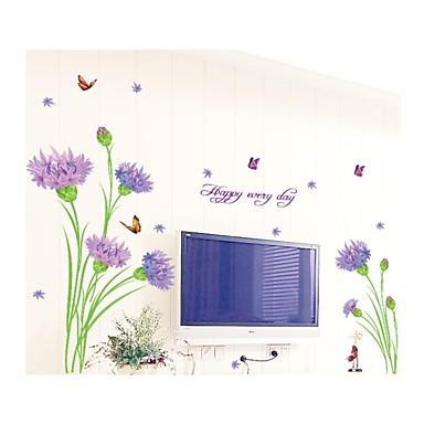 Weihnachten Blumen Botanisch Wand-Sticker Flugzeug-Wand Sticker Dekorative Wand Sticker, PVC Haus Dekoration Wandtattoo Wand