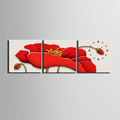 Modern/Contemporary Canvas Square Indoor,AA Wall Clock