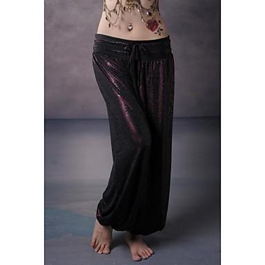 Göbek Dansı Alt Giyimler Unisex Performans Eğitim Elastik Dokuma Saten Düşük