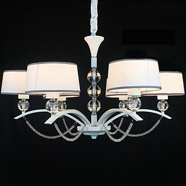Chandelier ,  Modern/Contemporary Chrome Feature for Crystal Fabric Living Room Bedroom Dining Room Hallway
