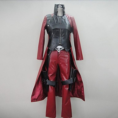 Inspired by Devil May Cry Cosplay Video Game Cosplay Costumes Cosplay Suits Patchwork Long Sleeve Coat Pants Gloves Costumes