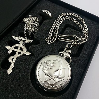 Men's Women's Quartz Pocket Watch Gift Classic Alloy Metal Band Traditional / Vintage Silver
