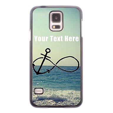 gepersonaliseerde telefoon case - anker en strand ontwerp metalen behuizing voor Samsung Galaxy S5 i9600