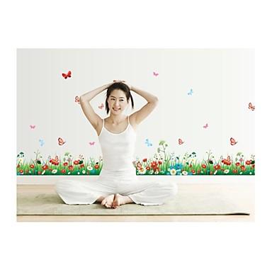 falimatrica fali matricák, stílus friss fű gyep pillangó virágok pvc falimatrica